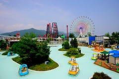 Het pretpark van het Hoogland fuji-q in Japan Stock Afbeeldingen