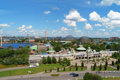 Het Pretpark van La Ronde In Montreal, Canada Stock Foto's
