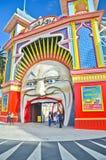 Het pretpark van Luna Park bij St Kilda Beach in Melbourne Royalty-vrije Stock Fotografie