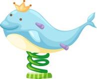 Het pretparkvector van de dolfijn Stock Fotografie