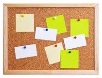 Het prikbord van  Stock Foto