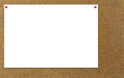 Het prikbordbericht van  Royalty-vrije Stock Foto's