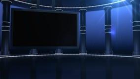 Het Primetime grote scherm stock illustratie