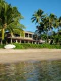 Het Privé Huis van Beachfront stock fotografie
