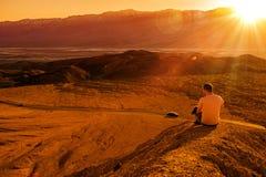 Het Privé Uitzicht van de doodsvallei stock foto's