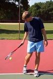Het Pro Spelen van het tennis Royalty-vrije Stock Afbeeldingen