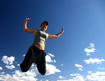 Het proberen te vliegen Stock Foto