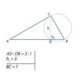 Het probleem om de diameter van een cirkel te vinden stock illustratie