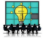 Het Probleem van het ideeënraadsel het Oplossen het Concept van de Inspiratiecreativiteit Stock Afbeeldingen