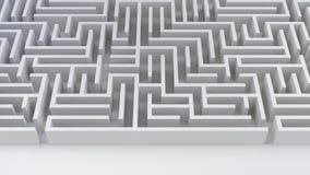 Het probleem van het labyrintlabyrint en de moeilijkheids 3D illustratie oplossings van het bedrijfsstrategiesucces royalty-vrije illustratie