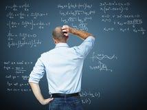 Het probleem van Math stock afbeelding
