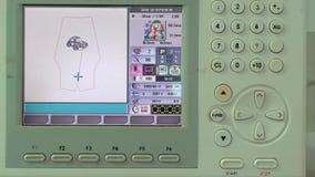 Het proces om het Machineelement en Scherm Te borduren heeft Royalty-vrije Stock Foto's