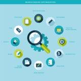 Het proces van de zoekmachineoptimalisering Stock Afbeeldingen