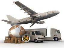Het proces van het vervoer royalty-vrije illustratie