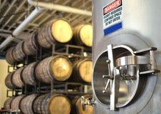 Het produceren van de wijn of van het bier Stock Fotografie