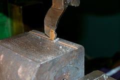 Het productiewerk in het hulpmiddel Stock Foto's
