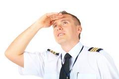 Het proef upwards kijken van de luchtvaartlijn Royalty-vrije Stock Afbeelding