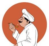 Het proeven van de chef-kok Royalty-vrije Stock Afbeelding