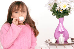Het proeven van de thee Royalty-vrije Stock Foto