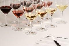 Het Proeven van de wijn royalty-vrije stock afbeelding