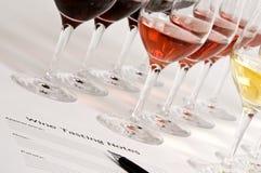 Het Proeven van de wijn Stock Fotografie