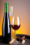 Het proeven van de wijn in wijnmakerij Royalty-vrije Stock Afbeeldingen
