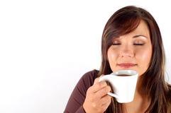 Het proeven van koffie royalty-vrije stock fotografie