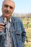 Het proevende product van Winemaker Stock Fotografie