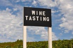 Het Proevende Teken van de wijn Stock Afbeelding