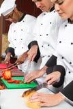 Het professionele chef-koks koken Stock Afbeeldingen