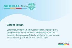 Het professionele medische team voor het concept van het gezondheidsleven stock foto