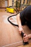 Het professionele tapijt schoonmaken stock afbeelding