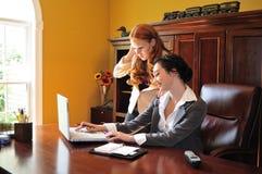 Het professionele vrouwen werken Stock Foto's