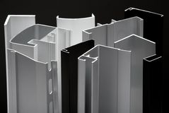Het profiel van het aluminium Stock Foto
