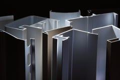 Het profiel van het aluminium stock fotografie