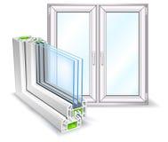 Het profiel van het venster Royalty-vrije Stock Afbeelding
