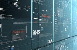 Het programma digitale achtergrond van de computercode Stock Foto's