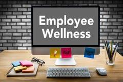 Het programma en het Leiden Gezondheid en programma Busin van werknemerswellness royalty-vrije stock afbeeldingen