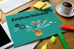 Het programma en het Leiden Gezondheid en programma Busin van werknemerswellness royalty-vrije stock afbeelding
