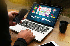 Het programma en het Leiden Gezondheid en programma Busin van werknemerswellness royalty-vrije stock foto