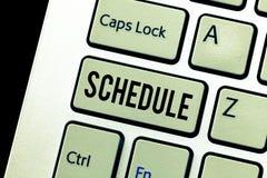 Het Programma van de handschrifttekst Concept die plan voor het uitvoeren van procesprocedure betekenen die de tijden van lijsten royalty-vrije stock fotografie