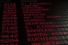Het programma van de vlucht Stock Foto