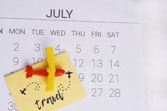 Het Programma van de de zomerkalender Stock Foto