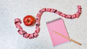 Het programma van het gewichtsverlies Apple Royalty-vrije Stock Foto's