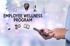 Het programma van werknemerswellness en het Leiden Werknemersgezondheid, employe royalty-vrije stock foto