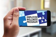 Het programma van werknemerswellness en het Leiden Werknemersgezondheid, employe stock illustratie
