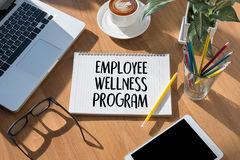 Het programma van werknemerswellness en het Leiden Werknemersgezondheid, employe stock foto's