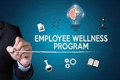 Het programma van werknemerswellness en het Leiden Werknemersgezondheid, employe stock afbeeldingen