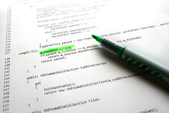 Het programmacode van de software Royalty-vrije Stock Afbeeldingen
