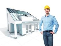 Het project van de architect Royalty-vrije Stock Afbeelding